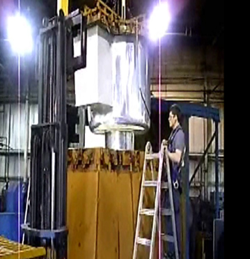 Granger ISS Being Pulled From Rotational Mold