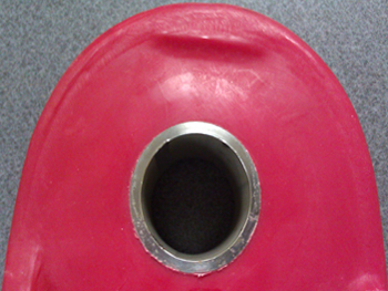 Molded in Stainless Steel Bushing, Rotomolded Product Part, Rotationally Molded Bushing